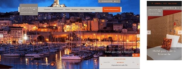 Version desktop Hotel Edmond Rostand version mobile Edmond Rostand