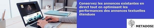 Conservez les annonces existantes en direct tout en optimisant les performances des annonces textuelles étendues