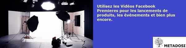 Utilisez Facebook Video Premiere pour les lancements de produits, les événements et bien plus encore.