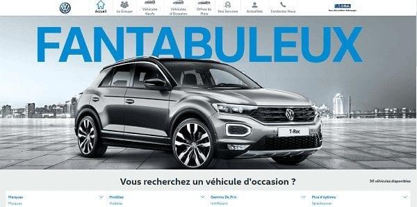 Site internet automobile GSA