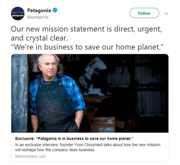 Les valeurs de Patagonia