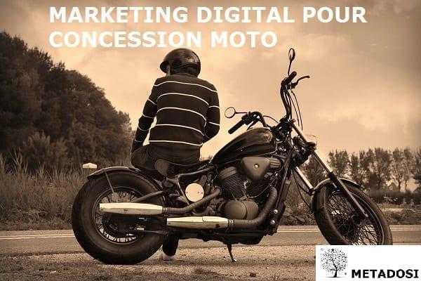 Marketing digital pour concession moto