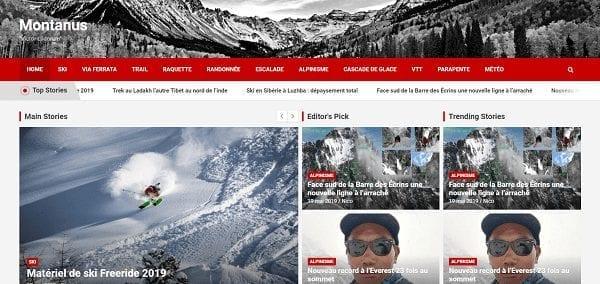 Création de site internet pour un blog d'activité Outdoor de Montagne