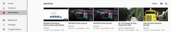 abonnement chaîne Youtube