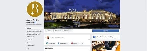 page Facebook de Casino
