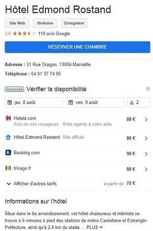 Hôtel Edmond Rostand Google My Business