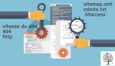 Les paramètres techniques présents sur le serveur pouvant empêcher le bon référencement du site internet