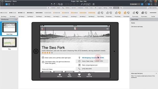 Vous pouvez utiliser un outil de création de diagramme tel que Balsamiq pour créer une carte de contenu.