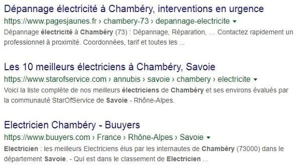 Tutoriel référencement Google pour les électriciens à Chambery