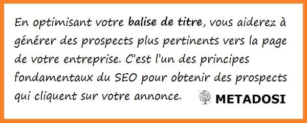 Principes de base du SEO : optimiser la balise Title