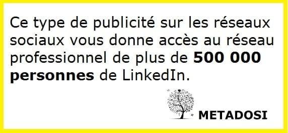 Type de publicité sur les réseaux sociaux : Linkedin