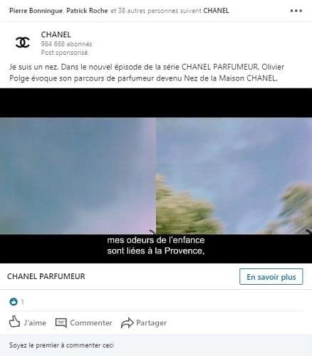 Publicité Linkedin