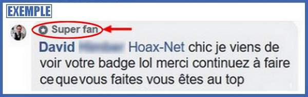 Un exemple de Earned Media avec un super Fan Facebook de Hoax-Net