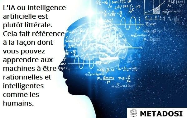 L'IA, ou intelligence artificielle, est assez littérale.