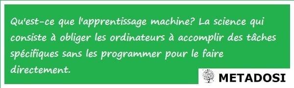 Définition de l'apprentissage machine
