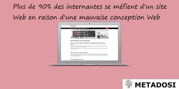 Plus de 90% des internautes se méfient d'un site Web en raison d'une mauvaise conception Web