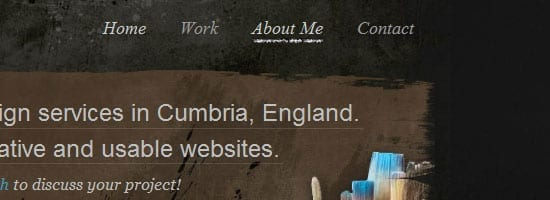 csharpdesign.co.uk capture d'écran du menu de navigation.