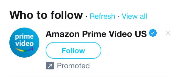 Exemple compte sponsorisé Twitter