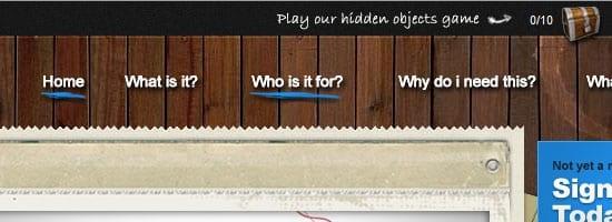 Games for her by you capture d'écran du menu de navigation.