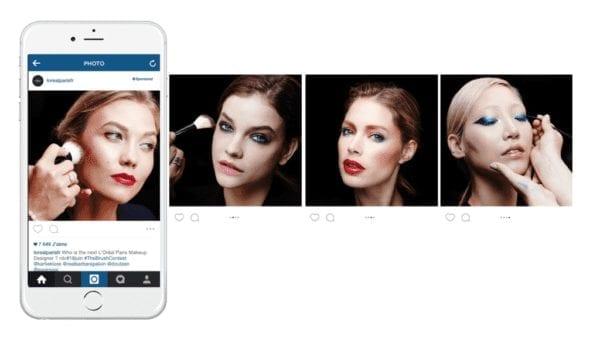 Publicité carrousel Instagram