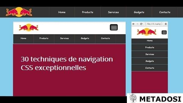 30 techniques de navigation CSS exceptionnelles