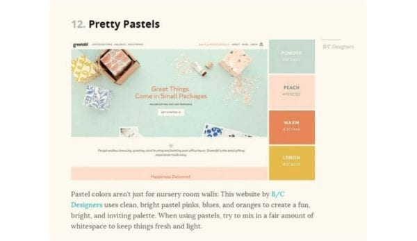 capture d'écran d'une palette commune