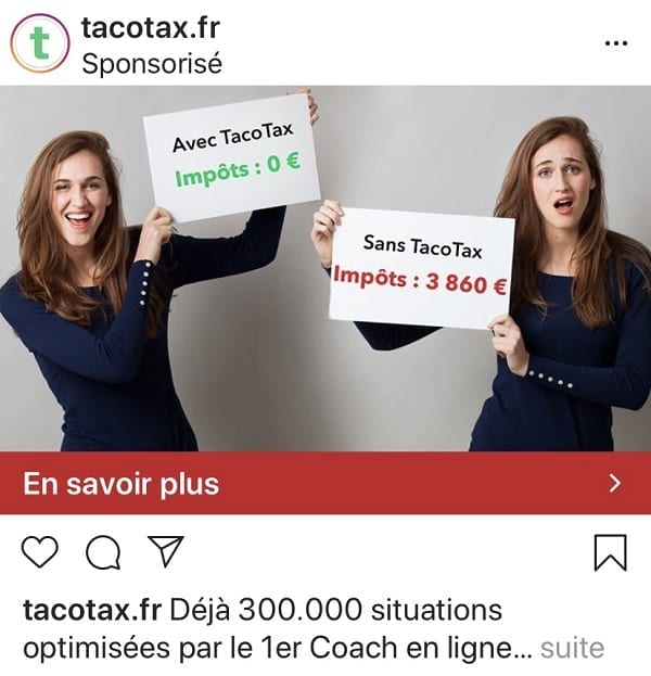 Publicité photo Instagram