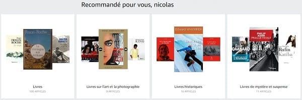 Recommendations Amazon