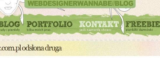 rzepak.pure.pl capture d'écran du menu de navigation.