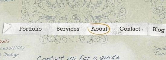 Capture d'écran du menu de navigation Satsu nettoyage