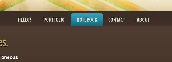 Capture d'écran du menu de navigation Thuiven.