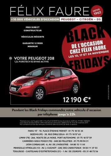 Offre Black Friday automobile