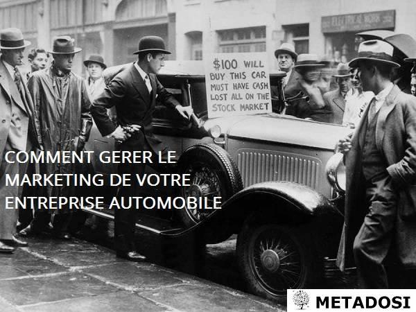 Comment gérer le marketing de votre entreprise automobile