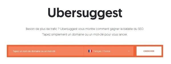 Comment optimiser le SEO pour votre site Web : Ubersuggest