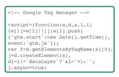 Un extrait de conteneur pour Google Tag Manager