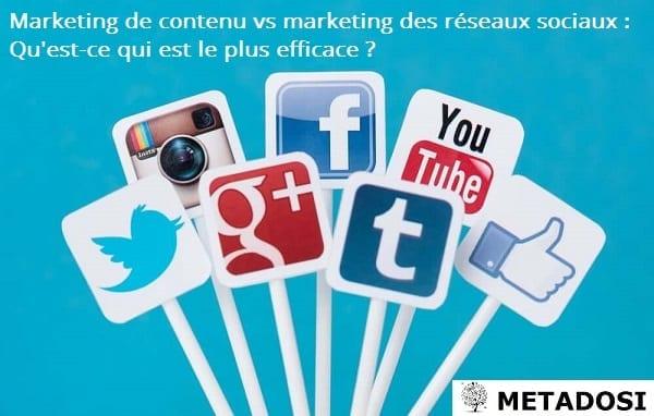 Marketing de contenu vs marketing des réseaux sociaux : Qu'est-ce qui est le plus efficace ?