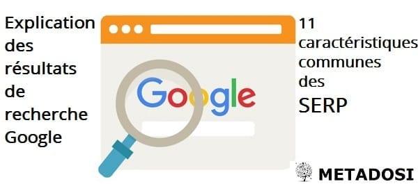 Explication des résultats de recherche Google : 11 caractéristiques communes des SERP