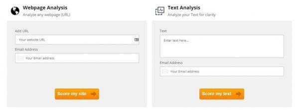 claritygrader pour évaluer votre site internet