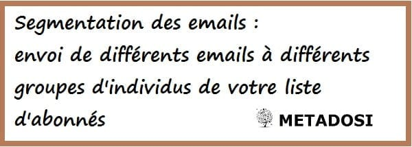 définition de la segmentation de l'email