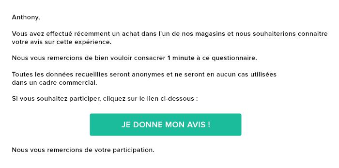 Exemple Email avis client