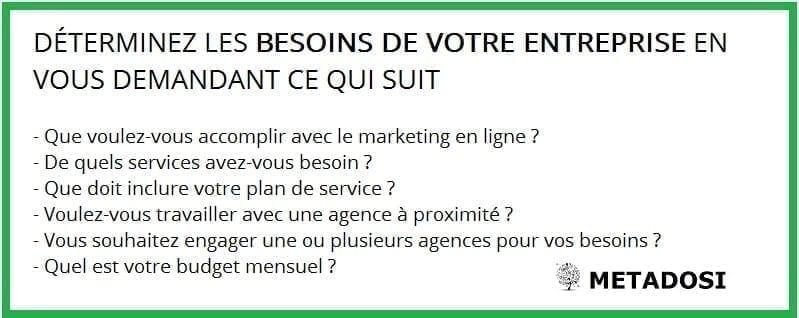Questions à poser lorsque vous engager la meilleure agence de marketing digital