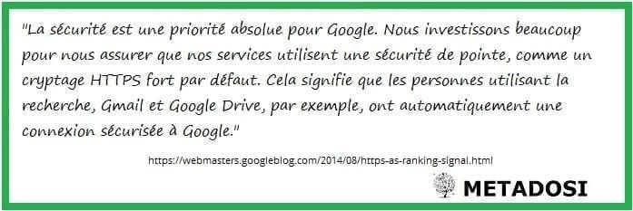 Google veut des sites internet sécurisés
