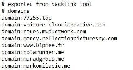 Un exemple de fichier de désaveu de Google