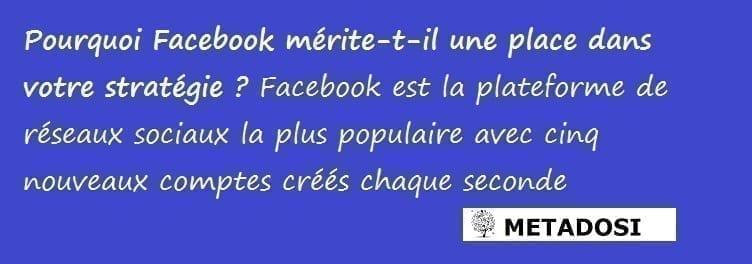 Pourquoi utiliser Facebook