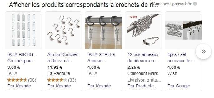 Exemple de publicité PPC sur Google