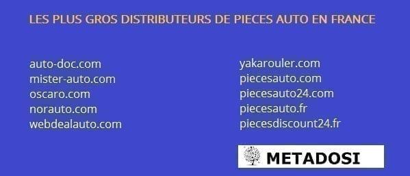 Les principaux vendeurs de pièces détachées automobiles en France
