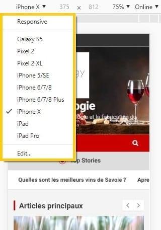 Tester votre site pour vérifier s'il est compatible mobile