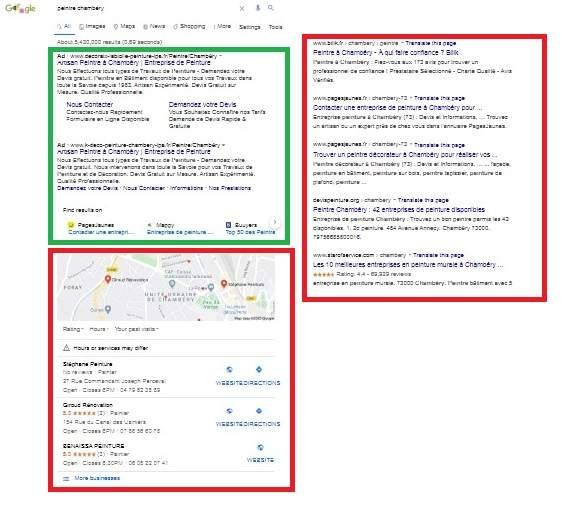 Recherche dans Google de Peintre Chambery