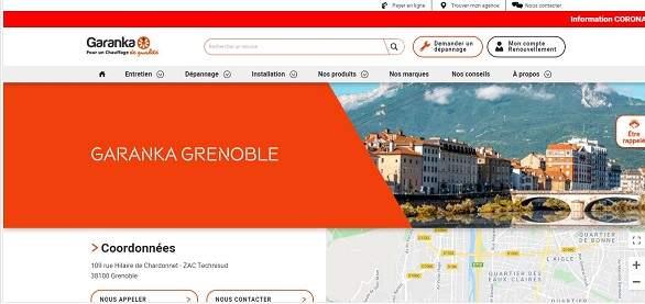 Landing page spécifique d'un chauffagiste à Grenoble