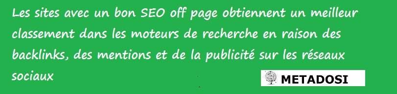 Avantages du SEO Off page
